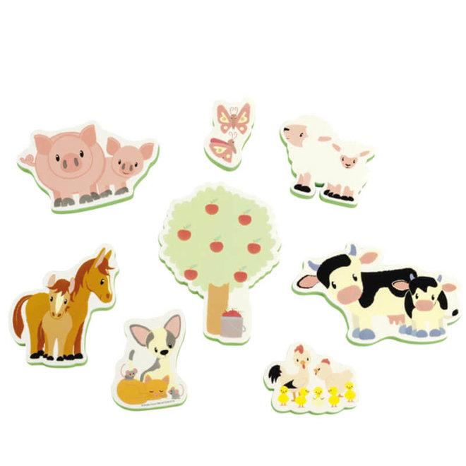 Badspeelgoed foam figuren - boerderij 10mnd+