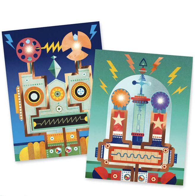 Knutselset met lampjes - Robots 8+
