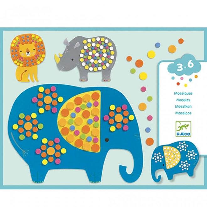 Djeco mozaïek stickers jungle