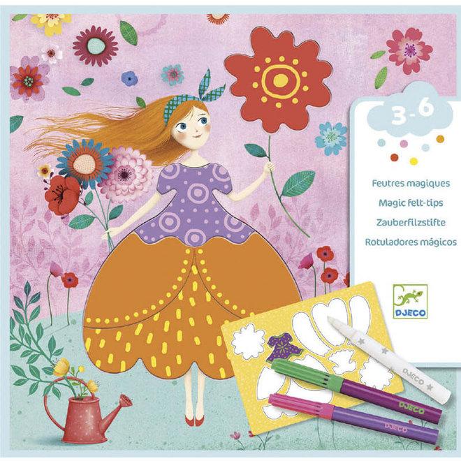 Magisch kleuren jurken 3-6jr