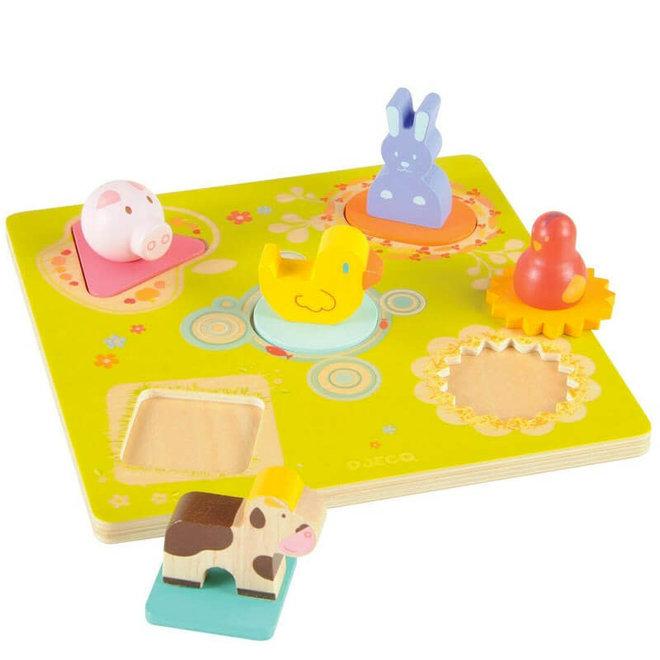 Djeco Houten puzzel met dieren 'Bildi'