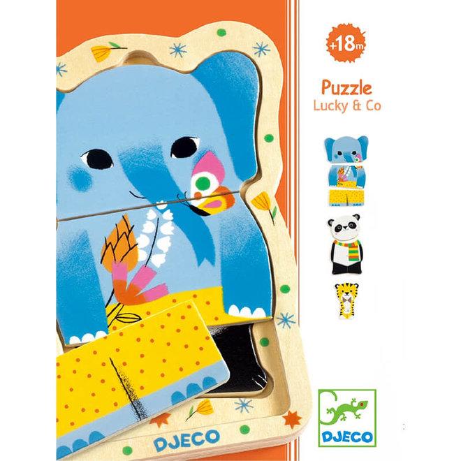 Djeco Lagen puzzel 'Lucky & Co'
