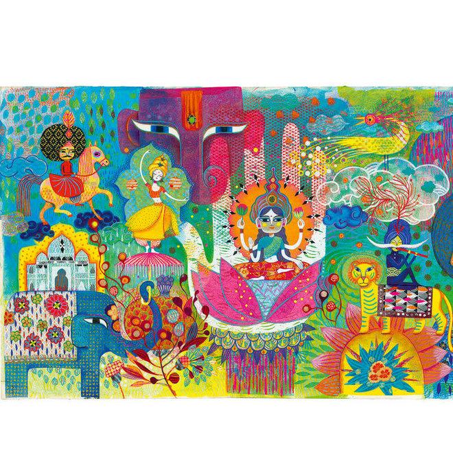 Djeco Puzzel 1000 stukjes - Magisch India
