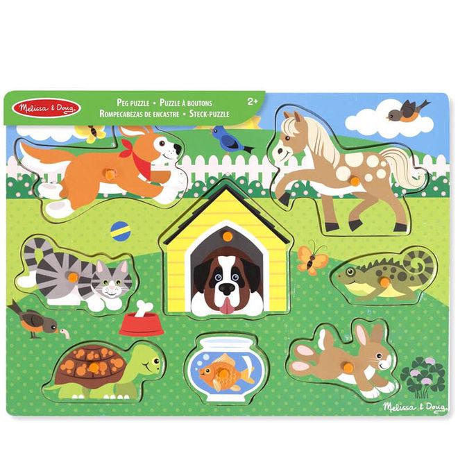 Houten puzzel huisdieren 1+