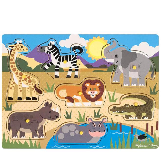 Houten puzzel safari 1+