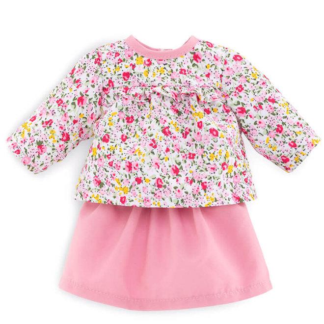Ma Corolle Blouse bloemen & rokje (voor pop met haar)