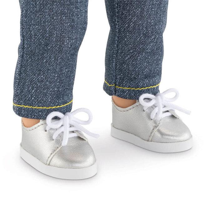Ma Corolle Sneakers zilver (voor pop met haar)