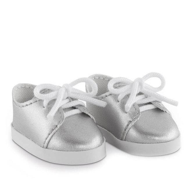 Sneakers zilver (voor pop met haar)