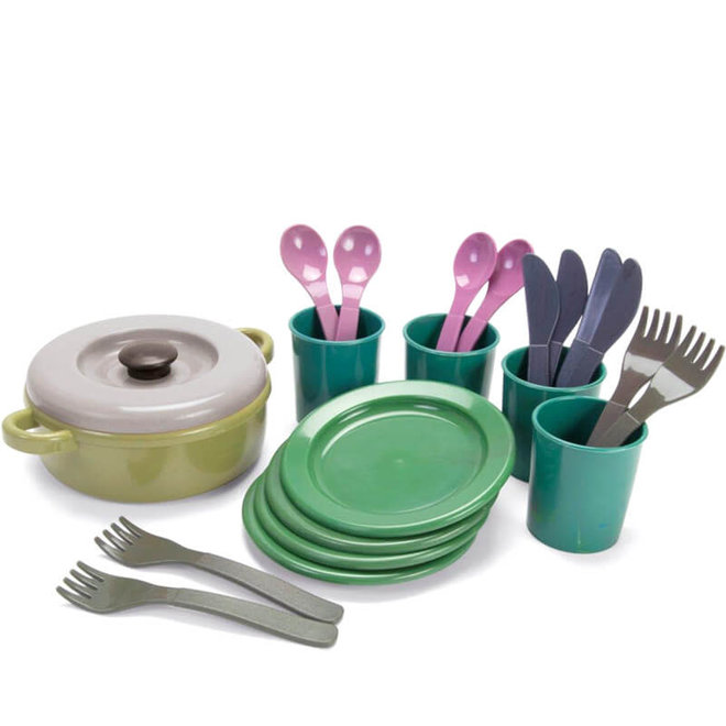 Servies set (gerecycled plastic)
