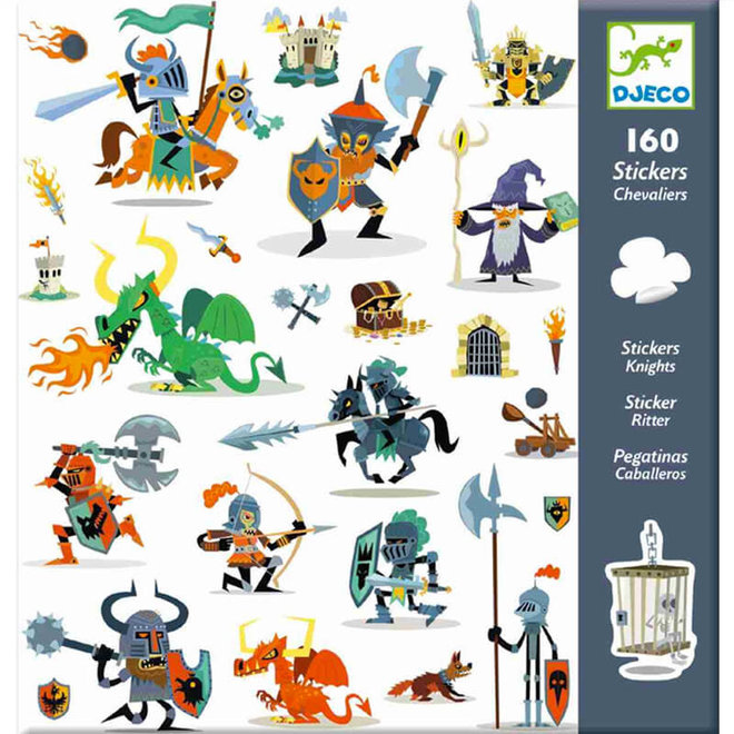 Djeco Stickers ridders