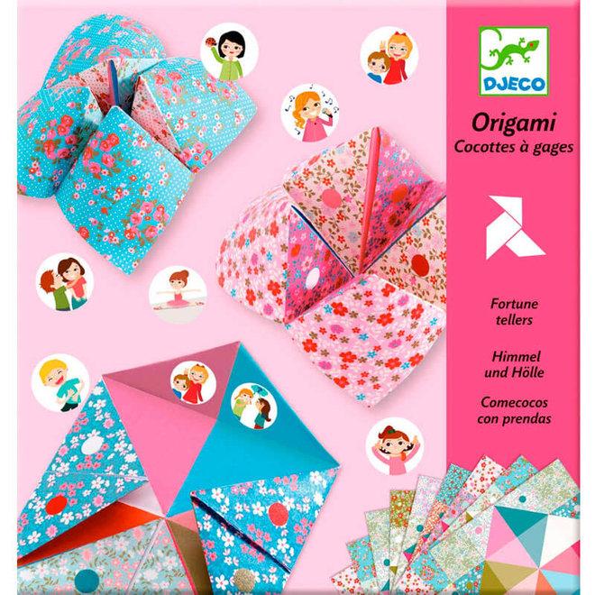 Origami vogelspel roze 4+