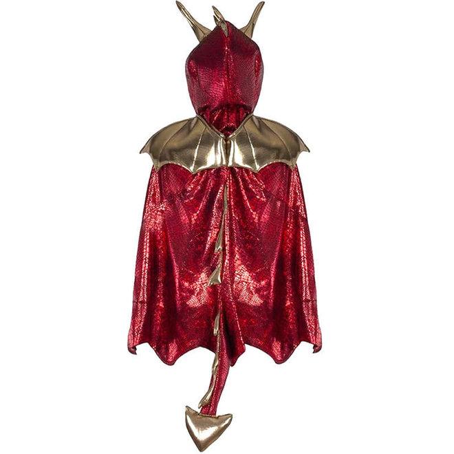 Draken cape rood (5-6 jaar)
