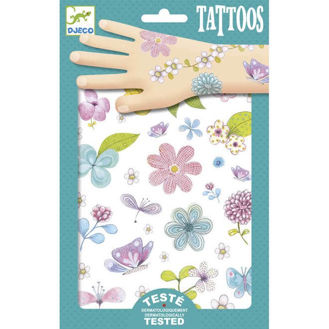 Tattoos bloemen & vlinders