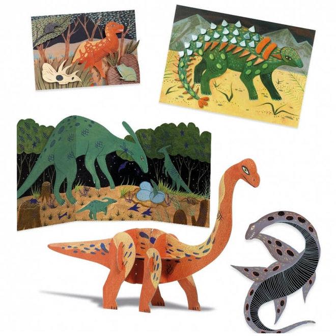 Djeco Knutselset groot - Dinosaurussen