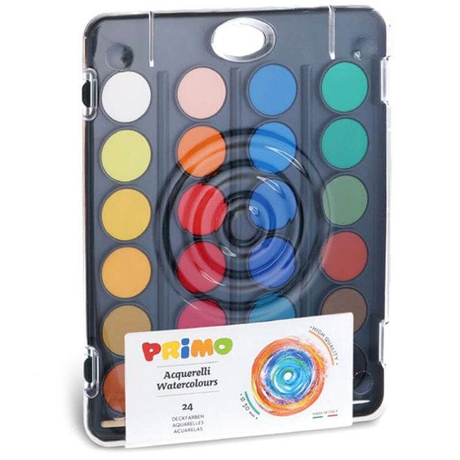 Primo Waterverf basiskleuren (24st) 3+