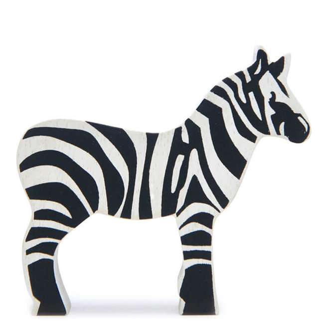 Houten safaridier - Zebra