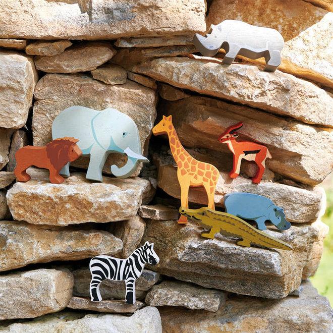 Houten safaridier - Olifant