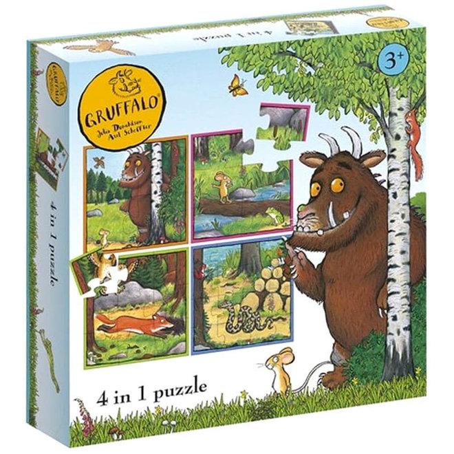De Gruffalo 4 in 1 puzzel 3+