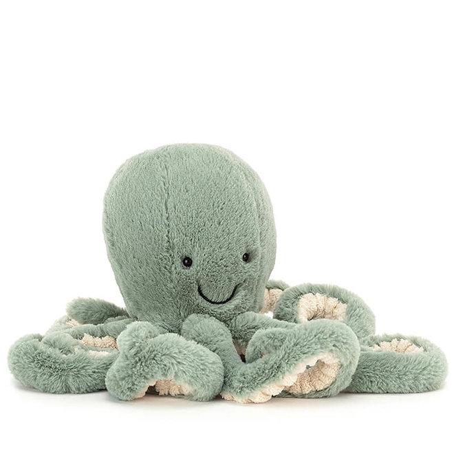 Knuffel octopus groen