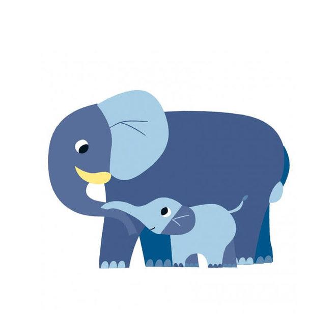 Djeco grote stickers voor peuters - Mama & baby