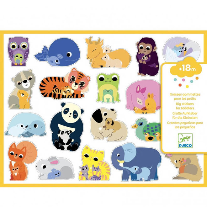 Peuter stickers mama & baby 18m+