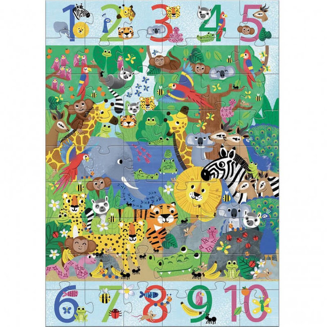 Vloerpuzzel jungle (54st) 5+