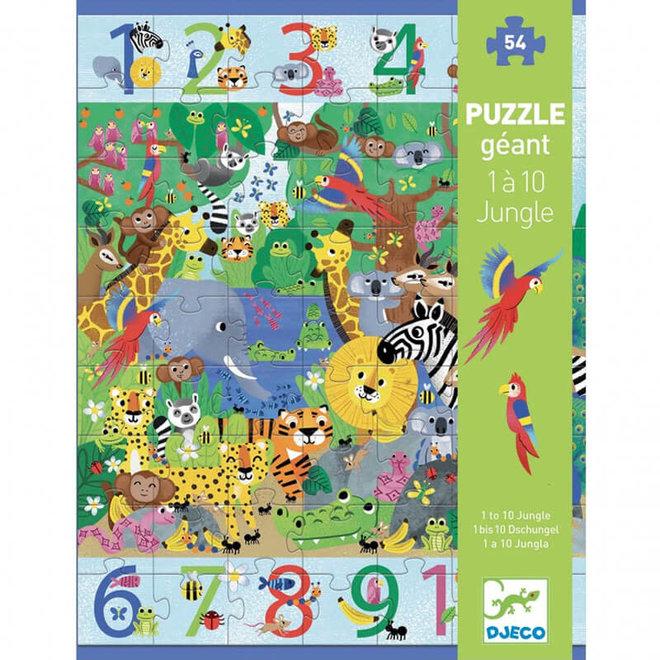 Djeco Vloerpuzzel Jungle 1 tot 10