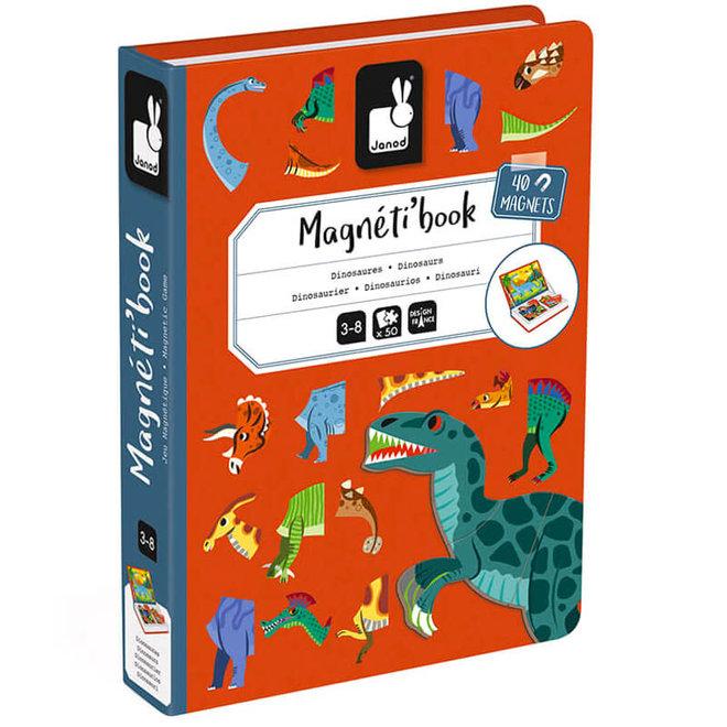 Magneetboek dino's 3+