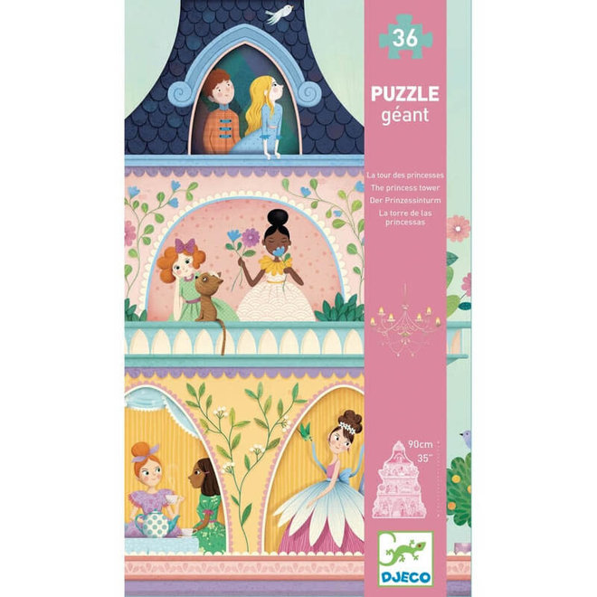 Djeco Vloerpuzzel - Prinsessen Toren