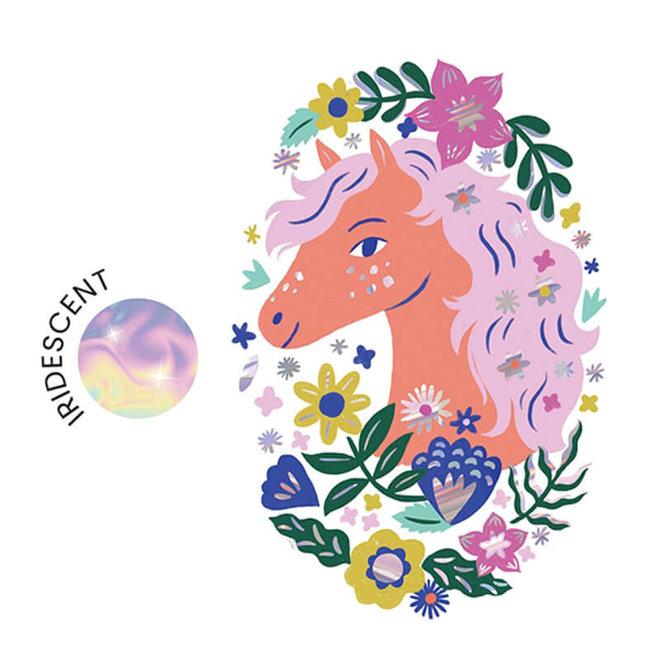 Djeco Grote Tattoo 'Poëtisch Paard'