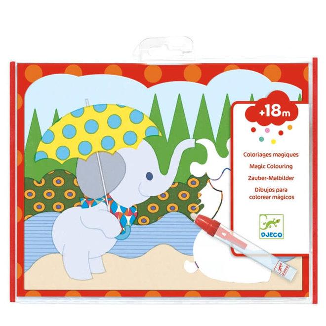 Magisch kleuren - olifantje 18m+