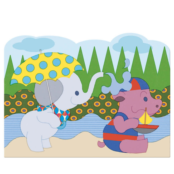 Djeco Magisch kleuren met water - Olifantje