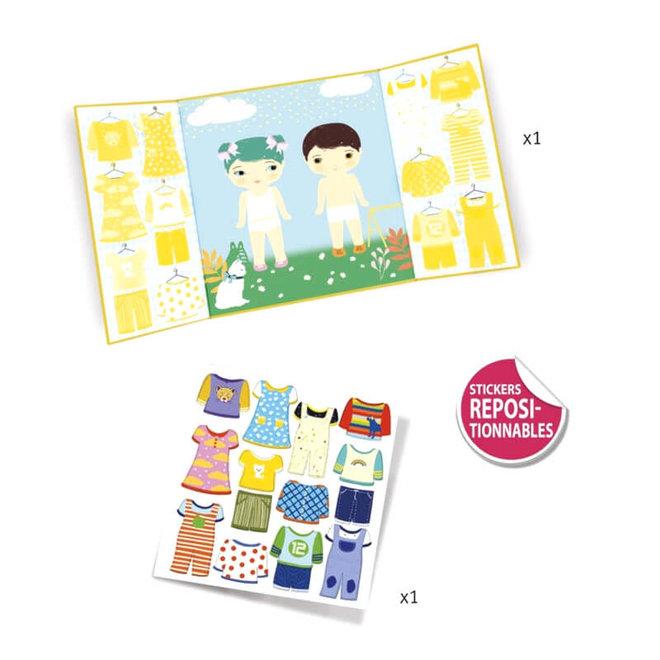 Djeco Herbruikbare Stickers Aankleden