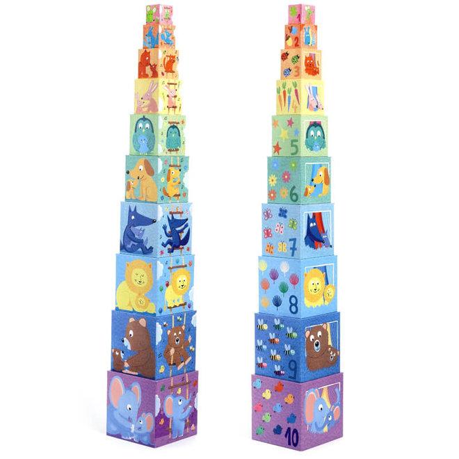 Djeco Stapelblokken Regenboog