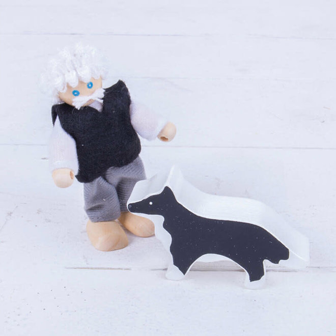 Poppenhuis poppetjes met hond & kat