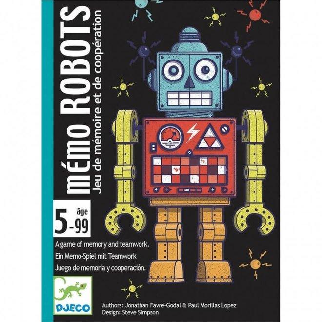 Kaartspel Memo Robots 5+