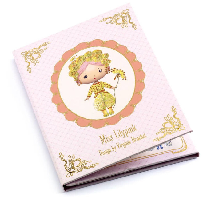 Djeco Tinyly Miss Lilypink - Herbruikbare Stickers