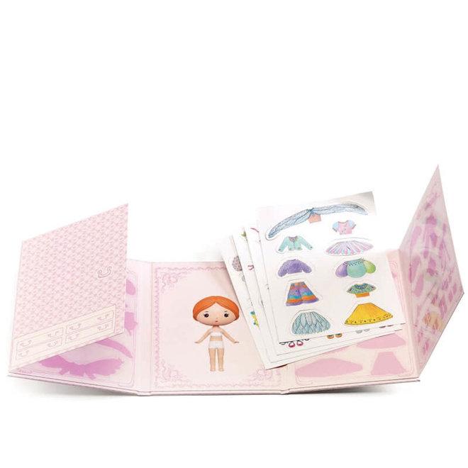 Djeco Tinyly Miss Lilyruby - Herbruikbare Stickers