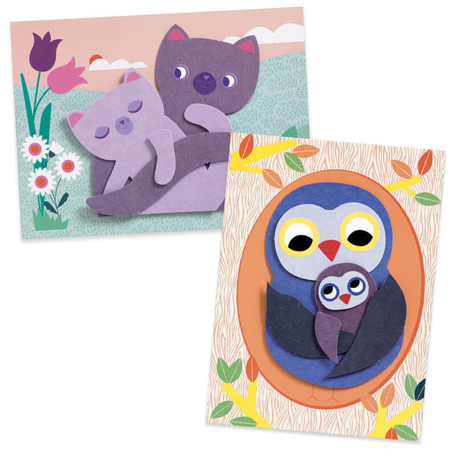 Djeco Collages Met Karton - Mama & Baby