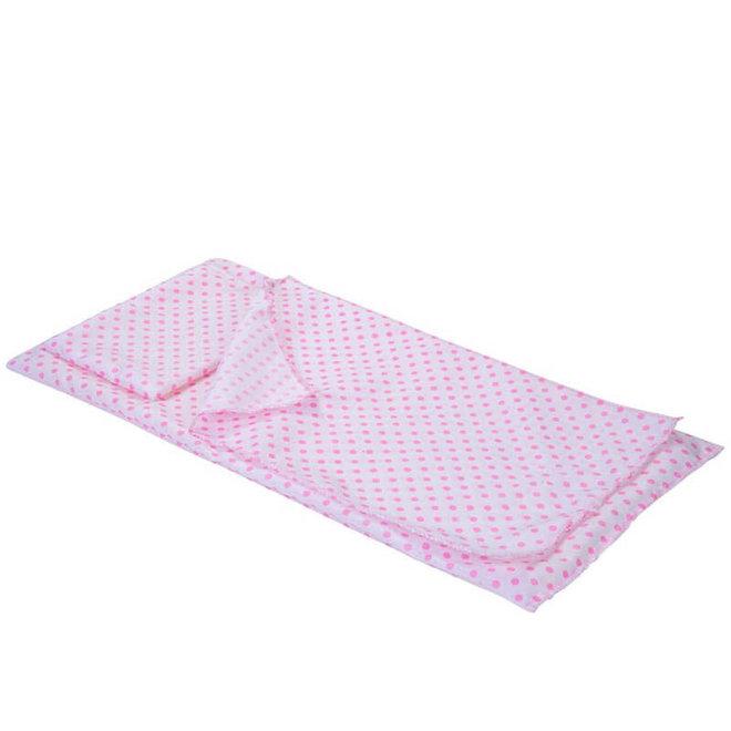 Poppen stapelbed wit/roze