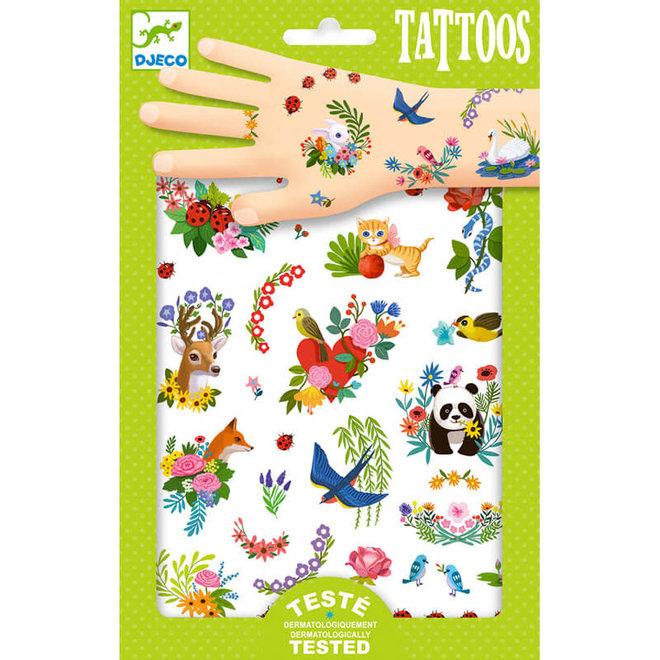 Tattoos vrolijke lente