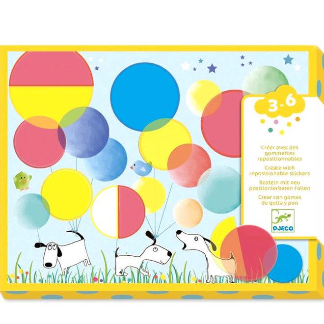 Herbruikbare stickers rondjes (3-6 jaar)