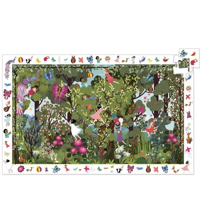 Puzzel 100 stukjes - Spelen in het bos 5+