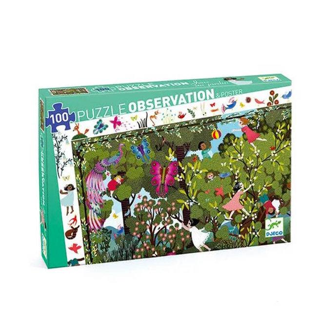 Djeco puzzel 100 stukjes - Spelen in het bos