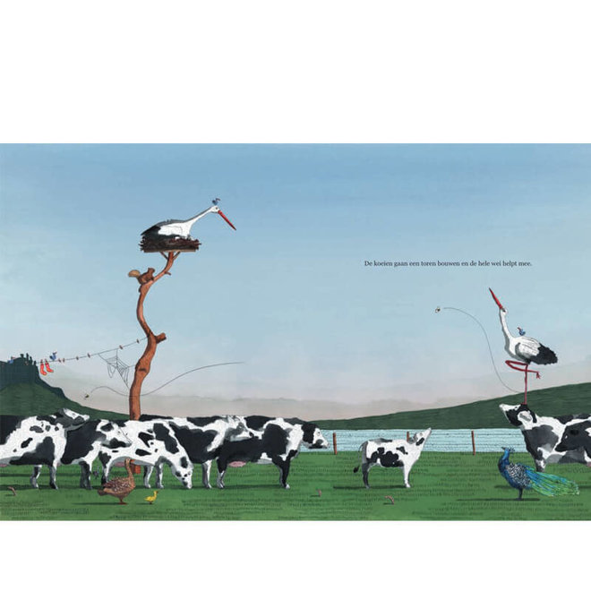 Een toren van koe