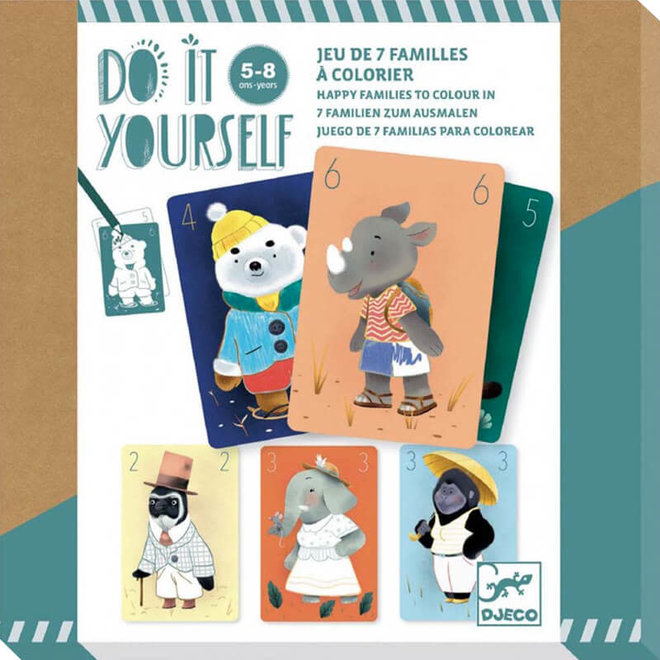 Djeco Do It Yourself - Kwartetspel
