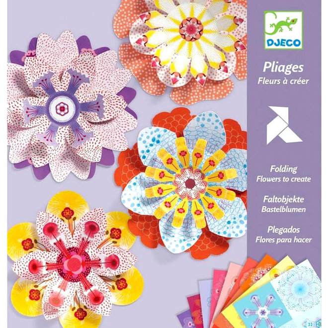 Origami bloemen 4+