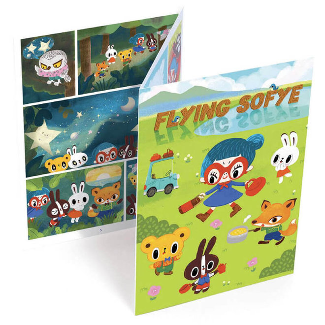 Djeco Krasplaatjes Stripverhaal 'Flying Sofye'