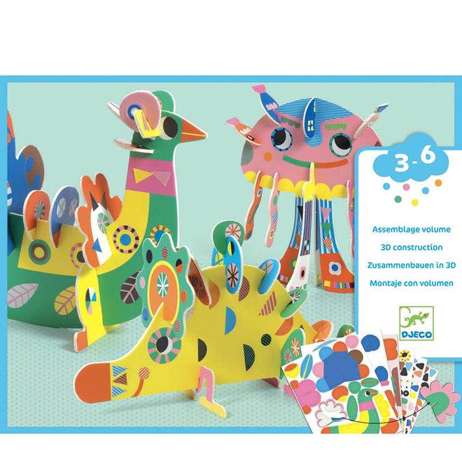 Knutselset 3D dieren (3-6 jaar)
