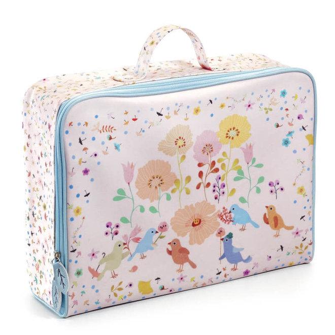 Koffer vogels & bloemen